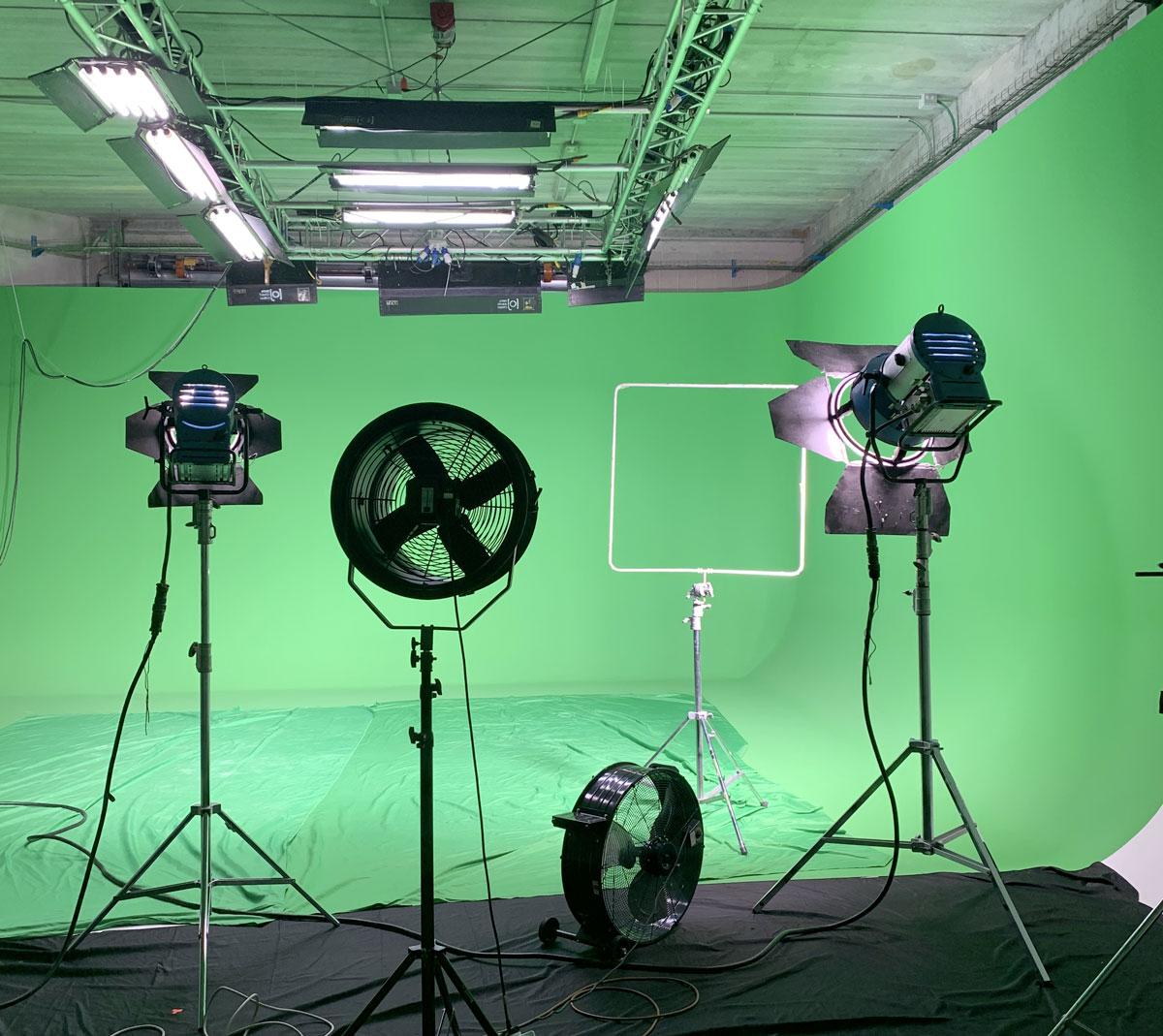 studio virtuale green screen